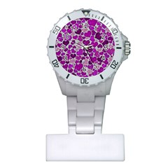 Sparkling Hearts Purple Nurses Watches
