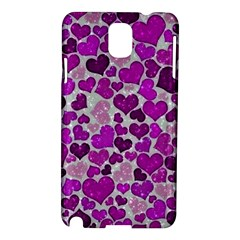 Sparkling Hearts Purple Samsung Galaxy Note 3 N9005 Hardshell Case