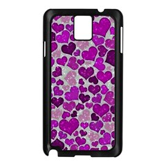 Sparkling Hearts Purple Samsung Galaxy Note 3 N9005 Case (Black)