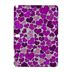 Sparkling Hearts Purple Samsung Galaxy Note 10.1 (P600) Hardshell Case