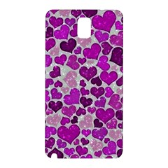 Sparkling Hearts Purple Samsung Galaxy Note 3 N9005 Hardshell Back Case