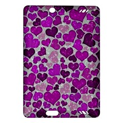 Sparkling Hearts Purple Kindle Fire HD (2013) Hardshell Case