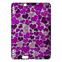 Sparkling Hearts Purple Kindle Fire HDX Hardshell Case
