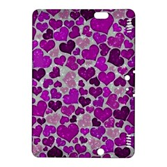 Sparkling Hearts Purple Kindle Fire HDX 8.9  Hardshell Case