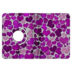 Sparkling Hearts Purple Kindle Fire HDX Flip 360 Case