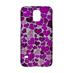 Sparkling Hearts Purple Samsung Galaxy S5 Hardshell Case