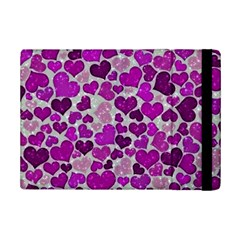 Sparkling Hearts Purple iPad Mini 2 Flip Cases