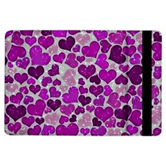 Sparkling Hearts Purple iPad Air Flip