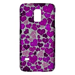 Sparkling Hearts Purple Galaxy S5 Mini