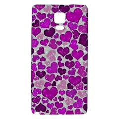 Sparkling Hearts Purple Galaxy Note 4 Back Case
