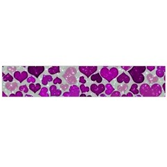 Sparkling Hearts Purple Flano Scarf (Large)