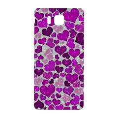 Sparkling Hearts Purple Samsung Galaxy Alpha Hardshell Back Case