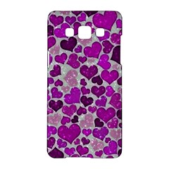 Sparkling Hearts Purple Samsung Galaxy A5 Hardshell Case