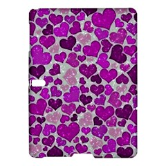 Sparkling Hearts Purple Samsung Galaxy Tab S (10.5 ) Hardshell Case