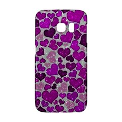Sparkling Hearts Purple Galaxy S6 Edge
