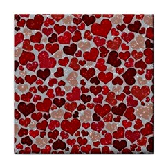 Sparkling Hearts, Red Tile Coasters
