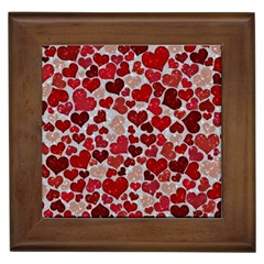 Sparkling Hearts, Red Framed Tiles