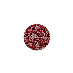 Sparkling Hearts, Red 1  Mini Magnets