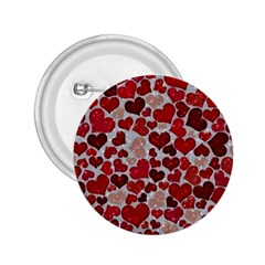 Sparkling Hearts, Red 2.25  Buttons