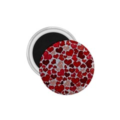 Sparkling Hearts, Red 1.75  Magnets