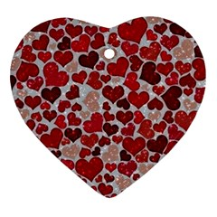 Sparkling Hearts, Red Ornament (Heart)