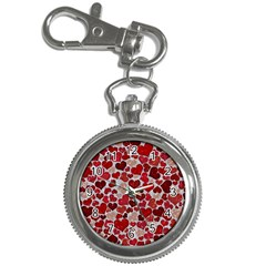 Sparkling Hearts, Red Key Chain Watches