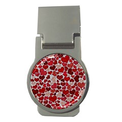 Sparkling Hearts, Red Money Clips (Round)