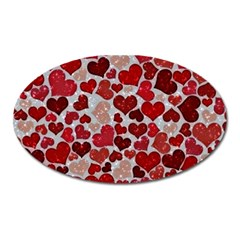 Sparkling Hearts, Red Oval Magnet