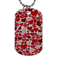 Sparkling Hearts, Red Dog Tag (One Side)