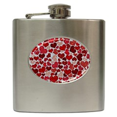 Sparkling Hearts, Red Hip Flask (6 oz)