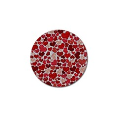 Sparkling Hearts, Red Golf Ball Marker (10 pack)