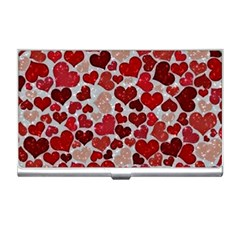 Sparkling Hearts, Red Business Card Holders