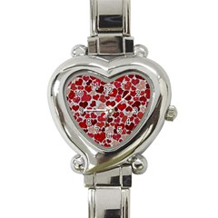 Sparkling Hearts, Red Heart Italian Charm Watch