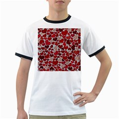 Sparkling Hearts, Red Ringer T-Shirts