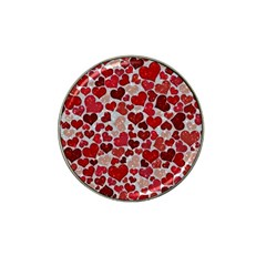 Sparkling Hearts, Red Hat Clip Ball Marker (10 pack)