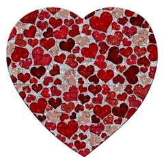 Sparkling Hearts, Red Jigsaw Puzzle (Heart)