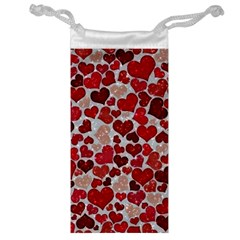 Sparkling Hearts, Red Jewelry Bags