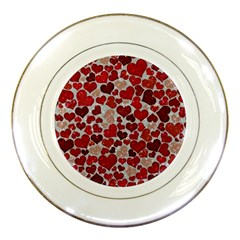 Sparkling Hearts, Red Porcelain Plates