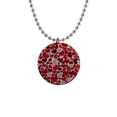 Sparkling Hearts, Red Button Necklaces