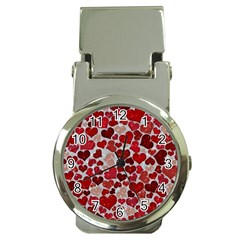 Sparkling Hearts, Red Money Clip Watches