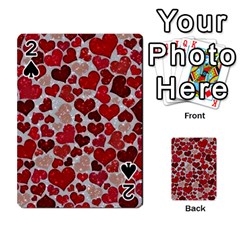 Sparkling Hearts, Red Playing Cards 54 Designs