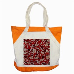 Sparkling Hearts, Red Accent Tote Bag