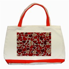 Sparkling Hearts, Red Classic Tote Bag (Red)