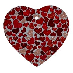 Sparkling Hearts, Red Heart Ornament (2 Sides)