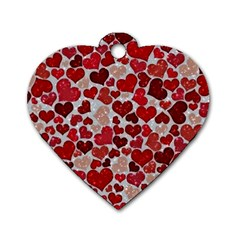Sparkling Hearts, Red Dog Tag Heart (Two Sides)
