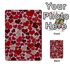 Sparkling Hearts, Red Multi Purpose Cards (rectangle)