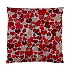Sparkling Hearts, Red Standard Cushion Case (One Side)