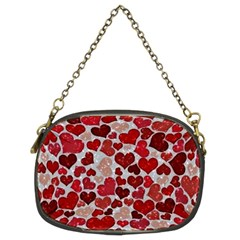 Sparkling Hearts, Red Chain Purses (Two Sides)