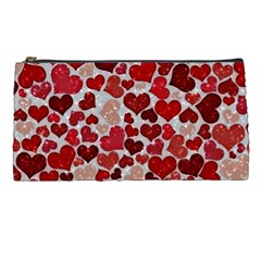 Sparkling Hearts, Red Pencil Cases