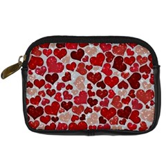 Sparkling Hearts, Red Digital Camera Cases